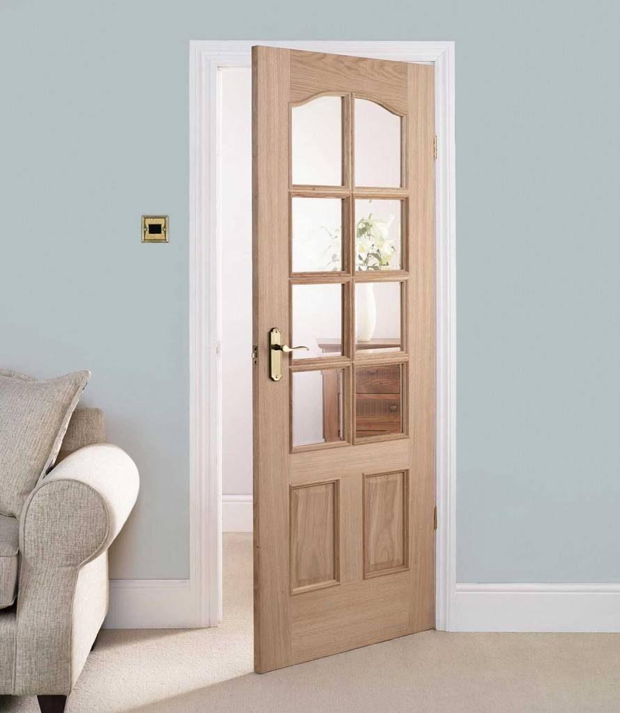 Camlı Panel Ahşap Kapı Modeli ve Fiyatı